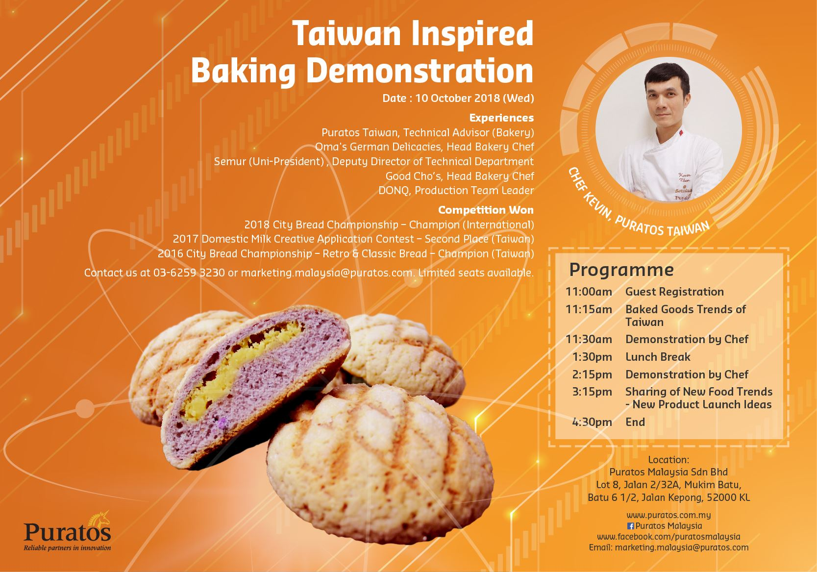 Taiwan Inspired Baking Demonstration